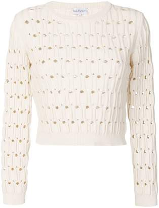 Carven open work cable knit jumper