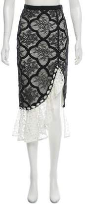 Alexis Lace Midi Skirt w/ Tags