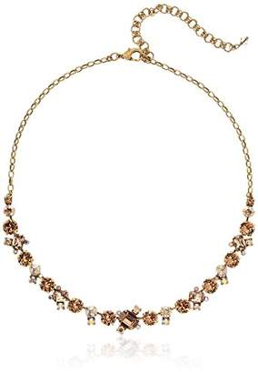 Sorrelli Core Antique Gold Tone Neutral Territory Novelty Multi-Cut Crystal Necklace