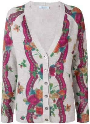 Blumarine floral pattern cardigan