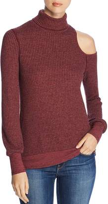 984f6812cb94b3 Three Dots Thermal Cold-Shoulder Turtleneck Sweater