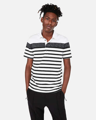 Express Signature Moisture-Wicking Striped Stretch Jersey Polo