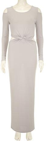 Dorothy Perkins Grey twist show maxi dress