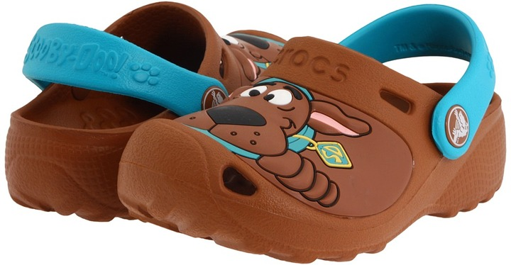Crocs Scooby-Doo II Clog (Toddler/Little Kid) (WB Brown/Turquoise) - Footwear