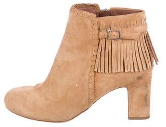 Tabitha Simmons Suede Fringe-Accented Boots
