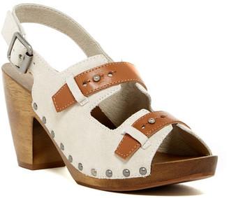 Kelsi Dagger Ben Contrast Chunky Sandal $145 thestylecure.com