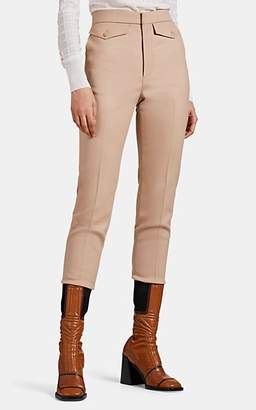Chloé Women's Virgin Wool Twill Trousers - Tan