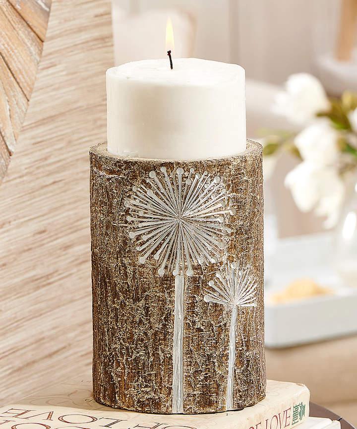 Short Bark Finish Candleholder