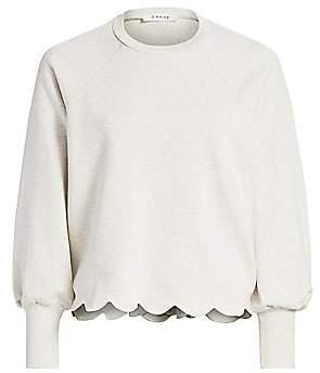 Frame Women's Scallop Crew Sweatshirt