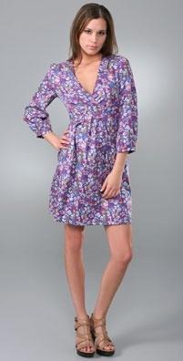 See by Chloe 3/4 Sleeve Liberty Print Dress
