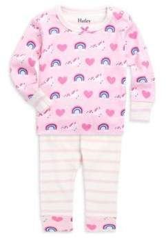 Hatley Baby Girl's Two-Piece Unicorn Pajama Set