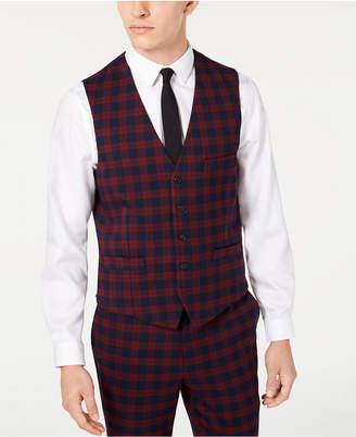 INC International Concepts Inc Men Slim-Fit Tartan Vest