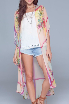 Band Of Gypsies Sheer Floral Kimono $98 thestylecure.com