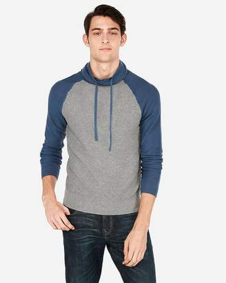 Express Open Stitch Funnel Neck Sweater