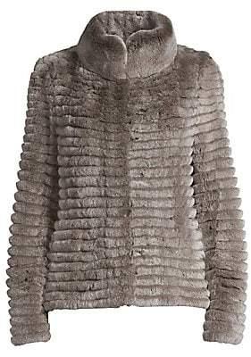Glamour Puss Glamourpuss Women's Rabbit Fur Knit Jacket