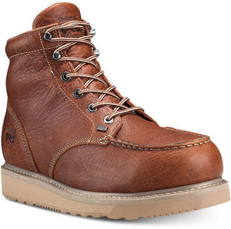 """Timberland Barstow-Men 6"""" Alloy Safety Toe Unlined Work Boot with Wedge Outsole Men Shoes"""