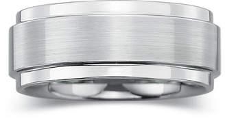 MODERN BRIDE Mens 8mm Comfort-Fit Ring in Tungsten