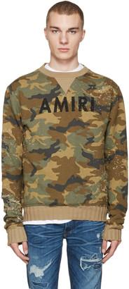 Amiri Brown Camo Logo Pullover $675 thestylecure.com
