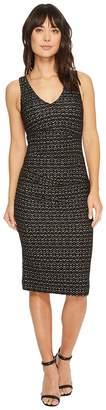 Nicole Miller Lurex Zigzag Wren Hip Tuck Dress Women's Dress