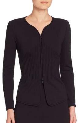 Armani Collezioni Milano Jersey Zipped Jacket