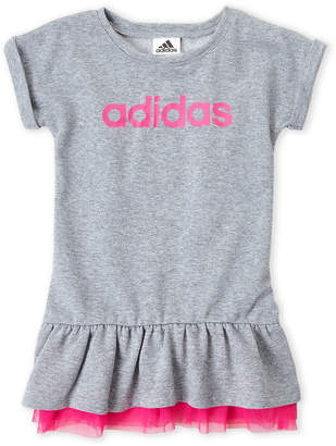 adidas Girls 4-6x) Logo Drop Waist Dress