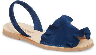 Solillas Frilled Flat Sandal