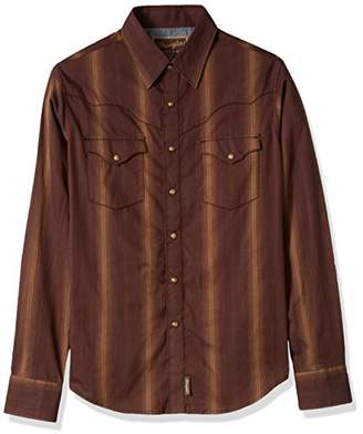 Wrangler Men's Retro Western Snap Front Long Sleeve Shirt