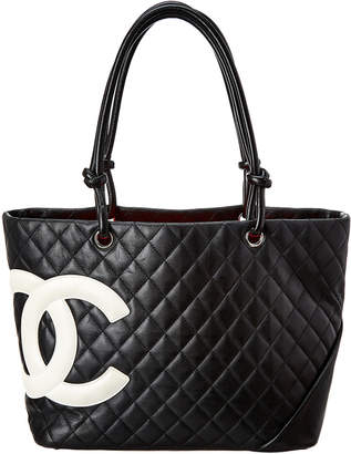 Chanel Black Quilted Calfskin Leather Large Cambon Tote