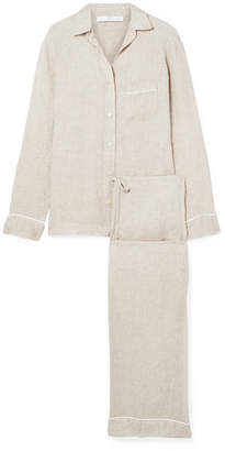 Pour Les Femmes - Linen Pajama Set - Mushroom