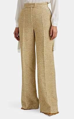 Martin Grant Women's Metallic Wool-Blend Tweed Wide-Leg Trousers - Gold