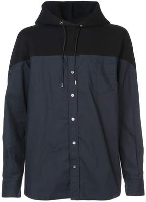 Sacai fitted hooded jacket