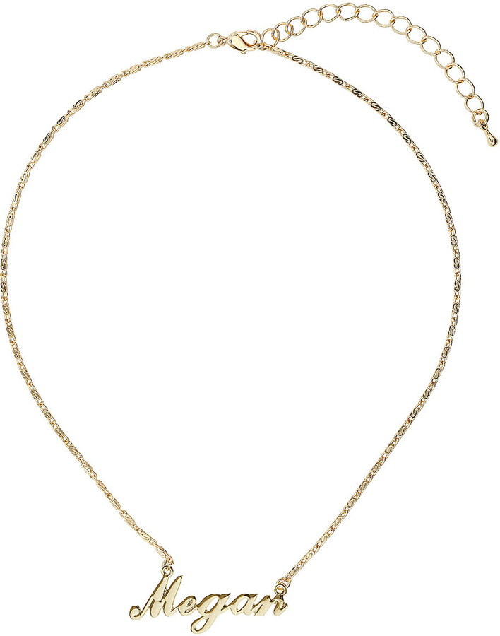 Topshop Megan name necklace