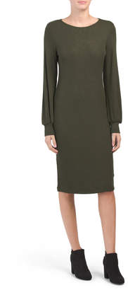 Crew Neck Ribbed Dress