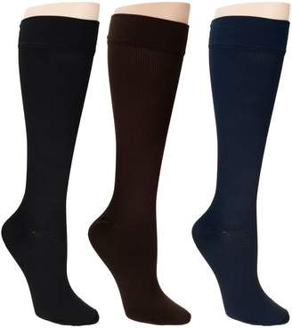 Legacy Legwear Graduated Compression Socks Set of 3 20-30 mmHg