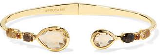 Ippolita Rock Candy 18-karat Gold, Citrine And Quartz Cuff