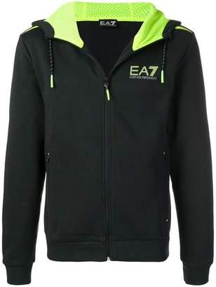Emporio Armani Ea7 logo zipped hoodie