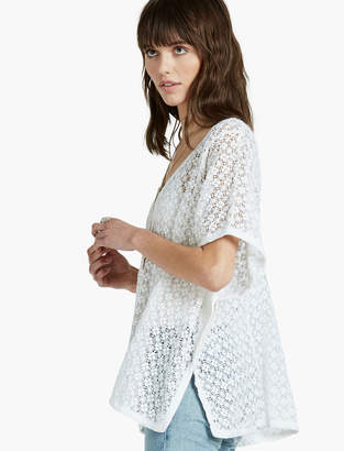 Lucky Brand SWEATER LACE PONCHO