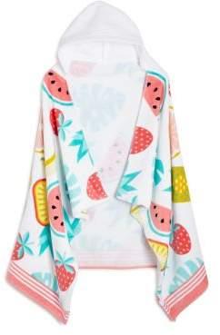 Caro Home Fruit Punch Kids Hooded Beach Towel