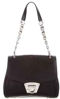 Salvatore Ferragamo Gancio Chain-Link Flap Bag
