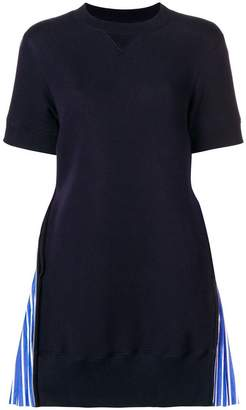 Sacai contrast sweater-dress