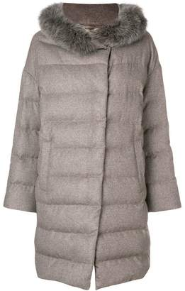 Herno fur trimmed padded coat
