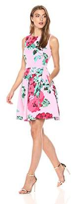 Taylor Dresses Women's Floral fit and Flare Scuba Dress