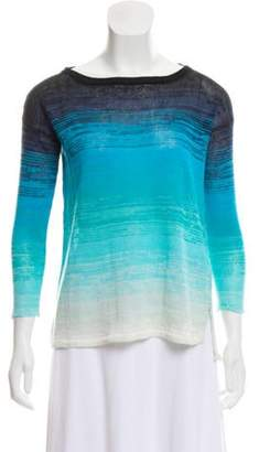 Calypso Linen Ombré Sweater Aqua Linen Ombré Sweater