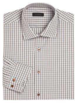 Saks Fifth Avenue COLLECTION Window Pane Checked Shirt