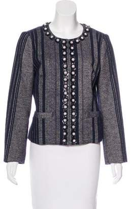 Tory Burch Embellished Tweed Jacket