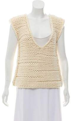 Reed Krakoff Cashmere Knit V-Neck Top