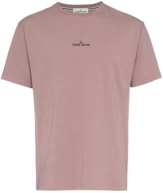 Stone Island pink logo t shirt