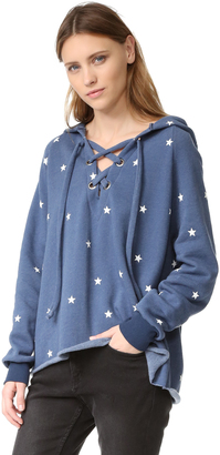 Wildfox Football Star Hoodie $136 thestylecure.com