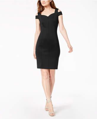 Calvin Klein Go Red Cold-Shoulder Sheath Dress