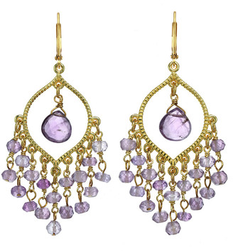 Rachel Reinhardt 14K Over Silver Amethyst Earrings